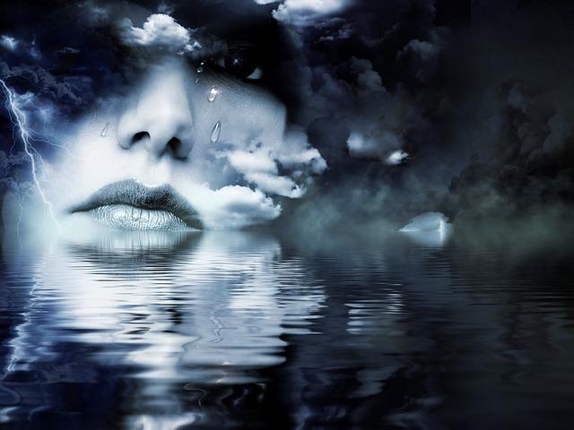 Curved in Tear Drops (Original Poem)