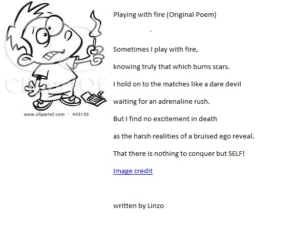Playing with Fire (Poem)