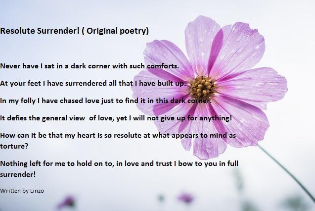 Resolute Surrender!(Poetry)