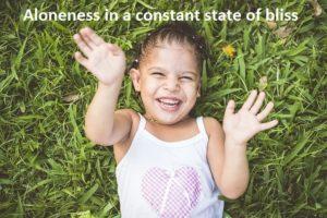 A state of lightness in aloneness
