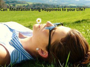 Meditation is happy!