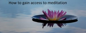 Calm in meditation